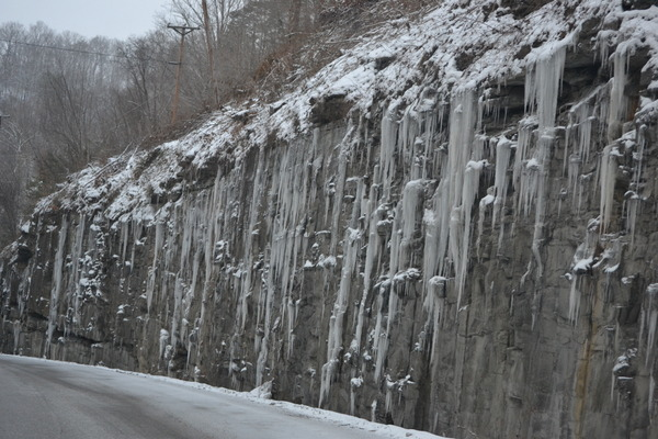 Frozen Falls on Limestone