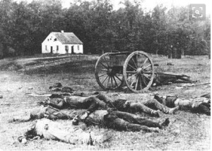 photo of the Civil War dead by Mathew Brady (ca. 1822 - 1896)