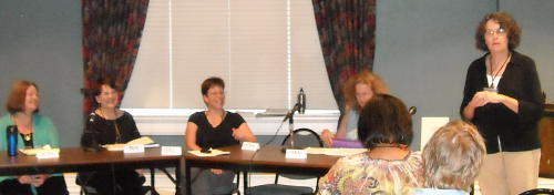 Jan introduces our panel at the Ky. Women Writers Conference