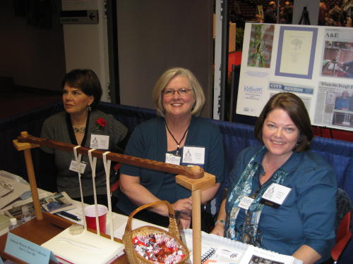 Pam, Mary, and Susan at the KaBooM table, Ky. Book Fair 2009